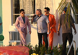 Kevin Jonas, Nick Jonas, and Joe Jonas film their first music video together since reuniting as The Jonas Brothers. The trio was seen filming on the rooftop of the historic International Inn, before doing a scene on a sailboat in Miami Beach, Florida. 24 Mar 2019 Pictured: Kevin Jonas, Joe Jonas, Nick Jonas. Photo credit: MEGA TheMegaAgency.com +1 888 505 6342