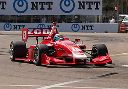 March 9, 2019 - St. Petersburg, FL, U.S. - ST. PETERSBURG, FL - MARCH 09: Zachary Claman (13) Wins race1 during the Indy Lights Race of St. Petersburg on March 9 in St. Petersburg, FL. (Photo by Andrew Bershaw/Icon Sportswire) (Credit Image: © Andrew Bershaw/Icon SMI via ZUMA Press)