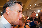 14 SEPTEMBER 2011 - SUN LAKES, AZ: Mitt Romney works the crowd after campaigning in a packed ballroom at the Oakwood Clubhouse at Sun Lakes Wednesday. Romney was one of the first of the 2012 Republicans running for the GOP Presidential nomination to come to Arizona. He campaigned Wednesday in Tucson and Sun Lakes and attended a private event in Tempe.       PHOTO BY JACK KURTZ