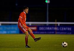 BANGOR, WALES - Tuesday, November 20, 2018: Wales' Jay Foulston during the UEFA Under-19 Championship 2019 Qualifying Group 4 match between Wales and San Marino at the Nantporth Stadium. (Pic by Paul Greenwood/Propaganda)