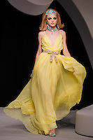 Jessica Stam walks the runway  at the Christian Dior Cruise Collection 2008 Fashion Show