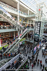 Main atrium of the Messe Zurich during the Swiss-Moto Customizing and Tuning Show. Zurich, Switzerland. Saturday, February 23, 2019. Photography ©2019 Michael Lichter.