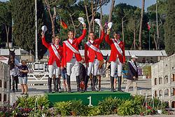Winner Team Germany :<br /> Ehning Markus (GER) - Copin van de Broy<br /> Ahlmann Christian (GER) - Taloubet Z<br /> Kutscher Marco (GER) - Cornet Obolensky<br /> Beerbaum Ludger (GER) - Gotha<br /> FEI Nations Cup of Rome 2012<br /> © Hippo Foto - Beatrice Scudo