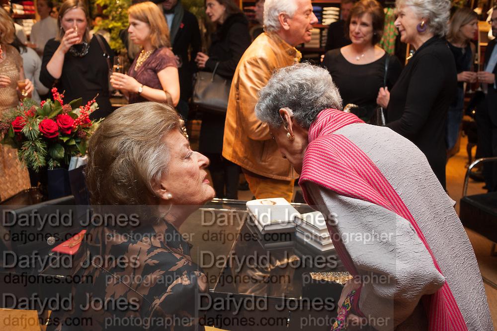 LADY PAMELA HICKS; JAYA THADANI, Book launch for ' Daughter of Empire - Life as a Mountbatten' by Lady Pamela Hicks. Ralph Lauren, 1 New Bond St. London. 12 November 2012.