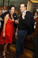 NANCY DELL'OLIO and BRENT HOBERMAN who co-founded lastminute.com at a party to celebrate the publication of 'The Russian House' by Ella Krasner held at De Beers, 50 Old Bond Street, London W1 on 9th June 2005.<br /><br />NON EXCLUSIVE - WORLD RIGHTS