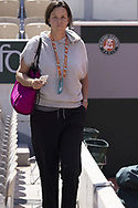 Lindsey DAVENPORT, coach of Madison KEYS during practice ahead of the Roland-Garros 2021, Grand Slam tennis tournament, Qualifying, on May 29, 2021 at Roland-Garros stadium in Paris, France - Photo Nicol Knightman / ProSportsImages / DPPI
