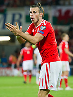 Football - 2017 / 2018 _Wales v Austria_FIFA World Cup Qualifier 2018<br /> <br /> Gareth Bale of Wales appeals to the linesman --- at Cardiff City Stadium.<br /> <br /> COLORSPORT/WINSTON BYNORTH