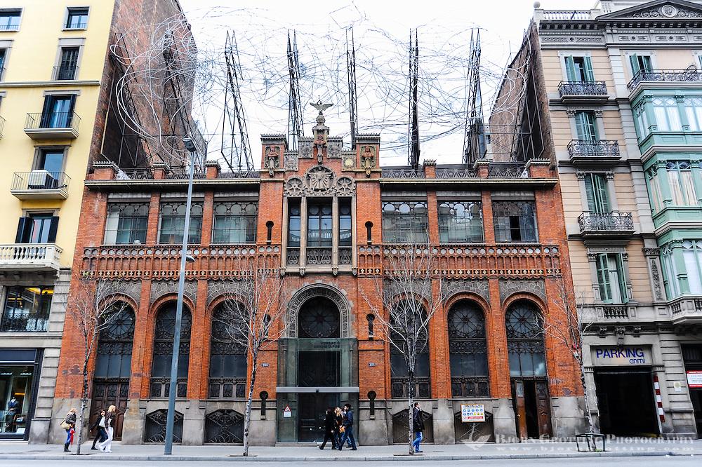Spain, Barcelona. The Fundació Antoni Tàpies is a cultural center and museum