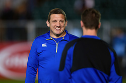 Bath Rugby first team coach Toby Booth looks on during the pre-match warm-up - Mandatory byline: Patrick Khachfe/JMP - 07966 386802 - 05/10/2018 - RUGBY UNION - The Recreation Ground - London, England - Bath Rugby v Exeter Chiefs - Gallagher Premiership Rugby