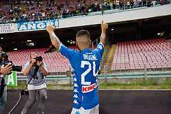 September 15, 2018 - Naples, Italy - After match Lorenzo Insigne ( SSC Napoli) thank the supporters under the curve.. during the Italian Serie A football SSC Napoli v AC Fiorentina at S. Paolo Stadium in Naples on September 15, 2018  (Credit Image: © Paolo Manzo/NurPhoto/ZUMA Press)