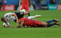 July 2, 2017 - Saint Petersburg, Russia - Joshua Kimmich of the Germany national football team vie for the ball during the 2017 FIFA Confederations Cup final match between Chile and Germany at Saint Petersburg Stadium on July 02, 2017 in St. Petersburg, Russia. (Credit Image: © Igor Russak/NurPhoto via ZUMA Press)