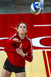 BLOOMINGTON, IL - September 14: Allie Otten during a college Women's volleyball match between the ISU Redbirds and the University of Central Florida (UCF) Knights on September 14 2019 at Illinois State University in Normal, IL. (Photo by Alan Look)