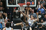 Basketball: 1. Bundesliga, Hamburg Towers - Hakro Merlins Crailsheim 91:92, Hamburg, 29.02.2020<br /> Justus Hollatz (Towers, r.)<br /> © Torsten Helmke