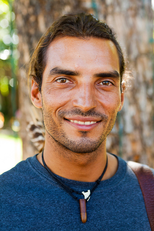 Felipe, a wood craftsman, photographed during the annual Christmas Fair in San Juan, Puerto Rico.