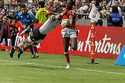 VANCOUVER, BC - MARCH 11:  during Game # 45- Cup Final Fiji vs Kenya Cup Final match at the Canada Sevens held March 11, 2018 in BC Place Stadium in Vancouver, BC. Final score: Fiji- 31, Kenya- 12. (Photo by Allan Hamilton/Icon Sportswire)