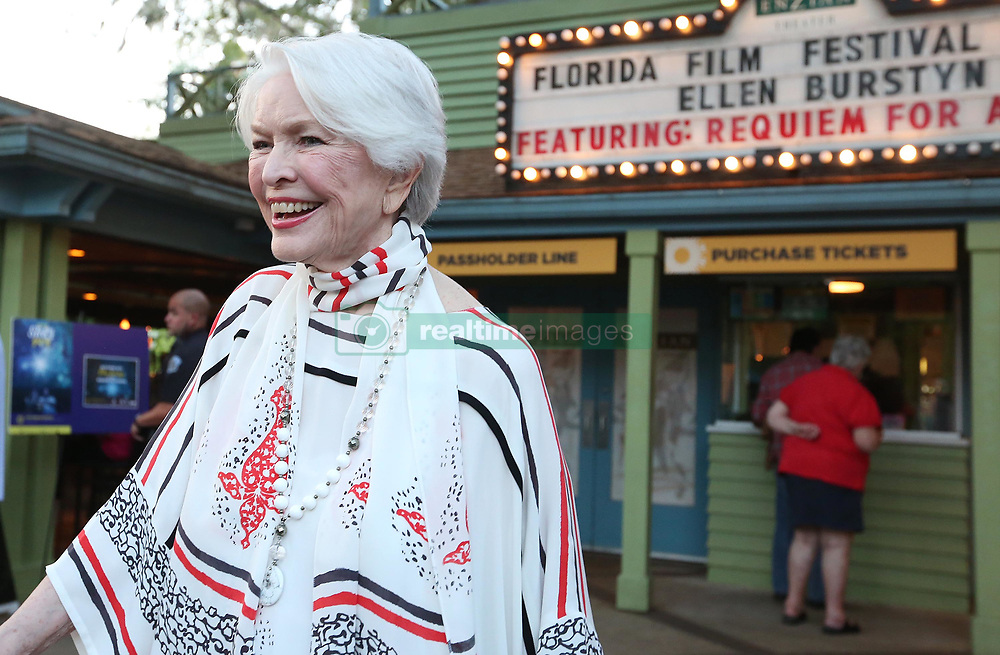 April 13, 2018 - Maitland, FL, USA - Oscar winner Ellen Burstyn smiles during an appearance at the Florida Film Festival at the Enzian Theater in Maitland, Fla., on Friday, April 13, 2018. (Credit Image: © Stephen M. Dowell/TNS via ZUMA Wire)