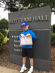 """Coleen Rooney releases a photo on Twitter with the following caption: """"""""Congratulations to Kai Rooney @WayneRooney @ColeenRoo on passing your Blue Cap Grading under the Junior @fuelgolf programme @MottramHall !!!"""""""". Photo Credit: Twitter *** No USA Distribution *** For Editorial Use Only *** Not to be Published in Books or Photo Books ***  Please note: Fees charged by the agency are for the agency's services only, and do not, nor are they intended to, convey to the user any ownership of Copyright or License in the material. The agency does not claim any ownership including but not limited to Copyright or License in the attached material. By publishing this material you expressly agree to indemnify and to hold the agency and its directors, shareholders and employees harmless from any loss, claims, damages, demands, expenses (including legal fees), or any causes of action or allegation against the agency arising out of or connected in any way with publication of the material."""