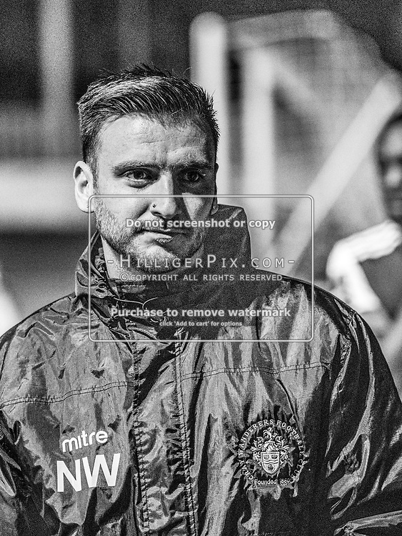 DARTFORD, UK - AUGUST 01: Nathan White, 1st Team Coach of Cray Wanderers FC, after the pre-season friendly match between Phoenix Sports FC and Cray Wanderers FC at The Mayplace Ground on August 1, 2019 in Dartford, UK. <br /> (Photo: Jon Hilliger)