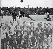 Football legend Zico playing beach soccer