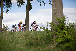 Riejanne Markus (NED) of WM3 Pro Cycling Team leads the peloton during the Omloop van Borsele - a 107.1 km road race, starting and finishing in s'-Heerenhoek on April 22, 2017, in Borsele, the Netherlands.