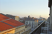 View over rooftops from Hotel Continental. Bordeaux city, Aquitaine, Gironde, France