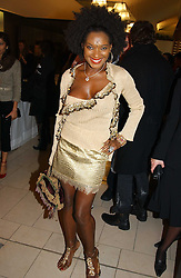 SANDY LAMB at a party to celebrate the european launch of Froggy handbags held at BB Italia, Brompton Cross, London on 24th October 2004.<br /><br />NON EXCLUSIVE - WORLD RIGHTS