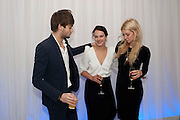 DOUGLAS BOOTH; JESSICA BROWN FINDLAY; ; VANESS KIRBY, English National Ballet's party before performance of the ' The Nutcracker. St. Martin's Lane Hotel. London 14 December 2011.