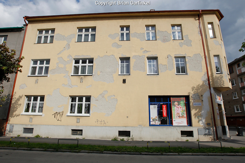 A view from the street in Zilina, Slovakia on Saturday July 2nd 2011. (Photo by Brian Garfinkel)