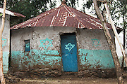 Africa, Ethiopia, Gondar, Wolleka village, The Beta Israel (the Jewish community) Synagogue exterior