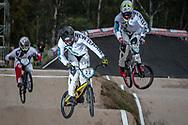 #22 (FRANKS Daniel) NZL and #949 (CAMERON Mathew) NZL at the 2016 UCI BMX Supercross World Cup in Santiago del Estero, Argentina