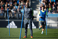 Zinedine Zidane during his first training session as Real Madrid´s new coach at Real Madrid Ciudad Deportiva in Madrid, Spain. January 05, 2016. (ALTERPHOTOS/Victor Blanco)