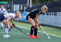AMSTELVEEN -  Freeke Moes (Adam) tijdens de hoofdklasse hockeywedstrijd dames, zonder publiek vanwege COVID-19, AMSTERDAM-SCHC (2-2). COPYRIGHT KOEN SUYK