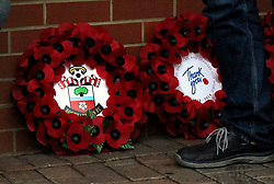 Tributes for Remembrance day prior to the Premier League match at St Mary's Stadium, Southampton.
