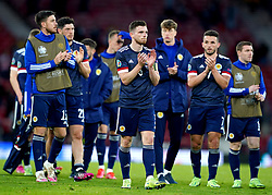Scotland's Andrew Robertson applauds the fans after the UEFA Euro 2020 Group D match at Hampden Park, Glasgow. Picture date: Tuesday June 22, 2021.