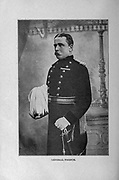 Field Marshal John Denton Pinkstone French, 1st Earl of Ypres, KP, GCB, OM, GCVO, KCMG, ADC, PC (28 September 1852 – 22 May 1925), from the book ' Boer and Britisher in South Africa; a history of the Boer-British war and the wars for United South Africa, together with biographies of the great men who made the history of South Africa ' By Neville, John Ormond Published by Thompson & Thomas, Chicago, USA in 1900