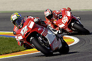 Troy Bayliss (AUS) leads Loris Capirossi (ITA).<br /> Motorsport - Motorcycle - MotoGP,<br /> Spanish Grand Prix<br /> Valencia<br /> 29th October 2006<br /> © Sport the library /Presse Sports