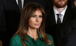 U.S. First Lady Melania Trump attends a ceremony to welcome the Stanley Cup Champions, The Pittsburgh Penguins to the White House Oct. 10, 2017 in Washington D.C.. Photo by Olivier Douliery/ Abaca Press