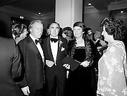 Pictured at the State opening of the National Concert Hall, Earlsfort Terrace Dublin, former Taoiseach Charles Haughey and Mrs Maureen Haughey. Between Mr and Mrs Haughey is National Concert Hall board member and Chair of the Dublin Grand Opera Society Donald Potter.  To Mrs Haughey's left is Veronica Dunne, another member of the board.  The venue was officially opened by President Patrick Hillery, followed by the premier concert featuring the Radio Telefís Éireann Symphony Orchestra with a large cast of soloists, choirs and the RTÉSO leader Audrey Park, conducted by RTÉSO<br />