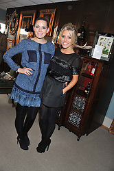 Left to right, OLIVIA LEE and MOLLIE KING at the 2012 Hennessy Gold Cup at Newbury Racecourse, Berkshire on 1st December 2012