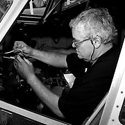 Leo works with wires in the cockpit of a Boeing 737 plane at the American Airlines Maintenance Base in Tulsa, Oklahoma, Monday, Oct. 3, 2016. Leo getting back to work was important for him and his wife financially because they still have a large sum of medical bills, but it also was a big milestone in his recovery because his work is so labor-intensive. Kurt Steiss/O'Colly