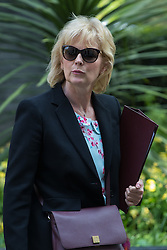Downing Street, London, May 17th 2016. Small Business Minister Anna Soubry leaves the weekly cabinet meeting in Downing Street.