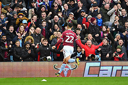 March 16, 2019 - Birmingham, England, United Kingdom - Anwar El Ghazi (22) of Aston Villa celebrates after scoring a goal to make it 1-0 during the Sky Bet Championship match between Aston Villa and Middlesbrough at Villa Park, Birmingham on Saturday 16th March 2019. (Credit Image: © Mi News/NurPhoto via ZUMA Press)