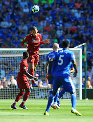 Virgil van Dijk of Liverpool heads the highball- Mandatory by-line: Nizaam Jones/JMP - 21/04/2019 -  FOOTBALL - Cardiff City Stadium - Cardiff, Wales -  Cardiff City v Liverpool - Premier League