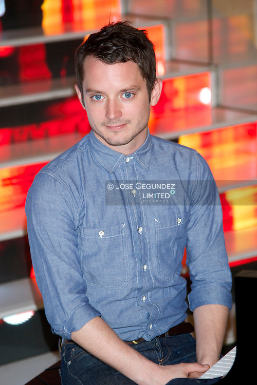 Elijah Wood attends 'Grand Piano' photocall at Telefonica Foundation on October 14, 2013 in Madrid, Spain.