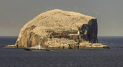 The super yacht, Triple Seven, rumoured to have been hired by Tom Cruise, visited the Bass Rock today
