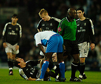Fotball<br /> England 2004/2005<br /> Foto: SBI/Digitalsport<br /> NORWAY ONLY<br /> <br /> Blackburn Rovers v Chelsea, Barclays Premiership, 02/02/2005.<br /> Chelsea's Arjen Robben cries out in agony and is forced to leave the game with an injury.