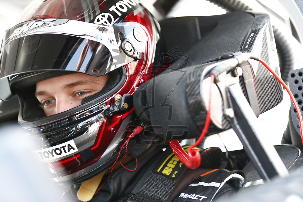April 28, 2017 - Richmond, Virginia, USA: Erik Jones (20) hangs out in the garage during practice for the ToyotaCare 250 at Richmond International Speedway in Richmond, Virginia.