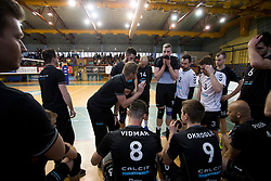 Players of OK Calcit Volley during 3rd Leg volleyball match between OK Calcit Volley and Salonit Anhovo in Semifinal of 1. DOL Slovenian National Championship 2017/18, on April 15, 2018 in Sports hall Kamnik, Kamnik, Slovenia. Photo by Urban Urbanc / Sportida