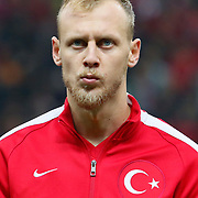 Turkey's Semih Kaya during their UEFA Euro 2016 qualification Group A soccer match Turkey betwen Kazakhstan at AliSamiYen Arena in Istanbul November 16, 2014. Photo by Kurtulus YILMAZ/TURKPIX