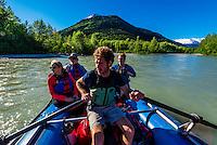Rafting trip on the Taiya River with Skagway Float Tours, Dyea (near Skagway), Alaska USA.